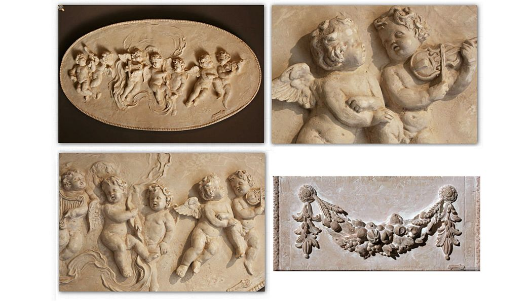 MAS DES ANGES Bas relief Architecture Ornements  |