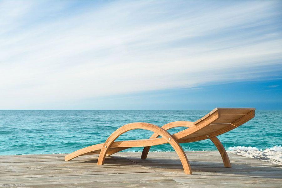 JARDIN-DECO Chaise longue de jardin Chaises longues Jardin Mobilier   