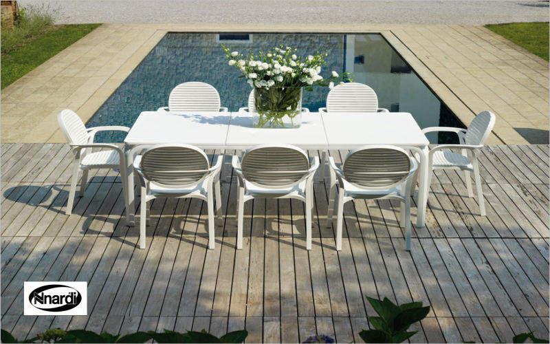 Nardi Salle à manger de jardin Tables de jardin Jardin Mobilier Jardin-Piscine | Design Contemporain