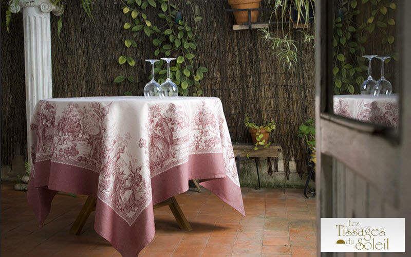 Les Tissages du Soleil Nappe ronde Nappes Linge de Table Salle à manger | Classique