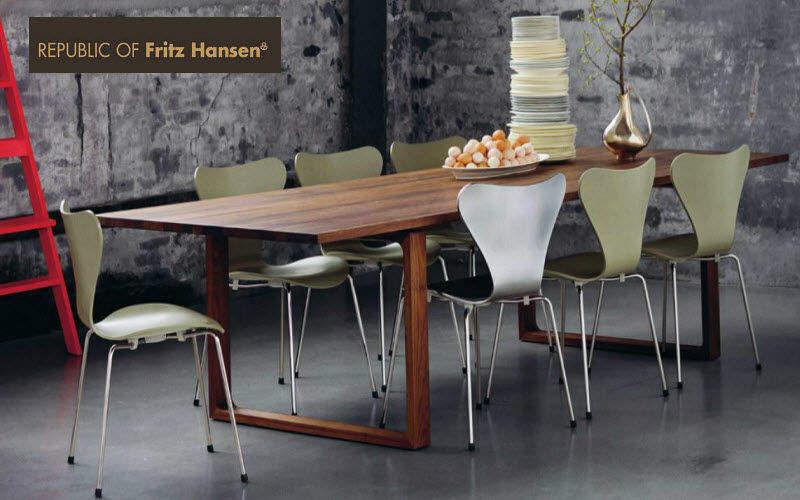 Fritz Hansen Table de repas rectangulaire Tables de repas Tables & divers Salle à manger |