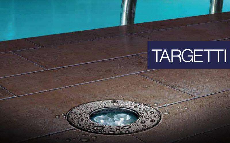 Targetti Spot encastré de sol Spots Luminaires Intérieur Jardin-Piscine | Design Contemporain