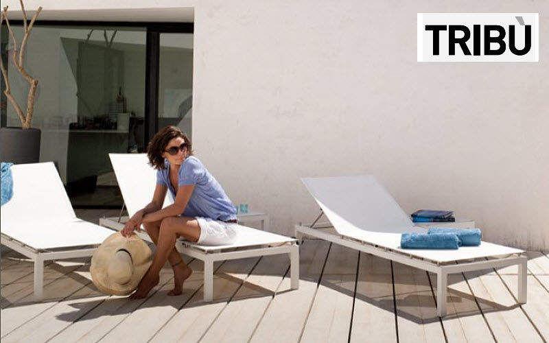 Tribu Bain de soleil Chaises longues Jardin Mobilier Terrasse | Contemporain