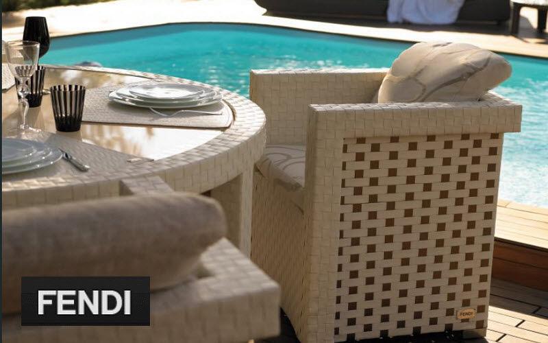 Fendi Casa Fauteuil de terrasse Fauteuils d'extérieur Jardin Mobilier  |