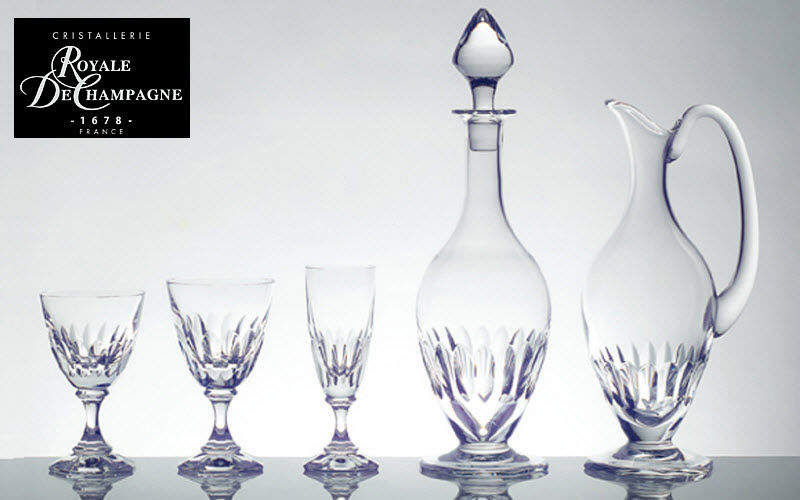 Cristallerie Royale De Champagne Service de verres Services de verres Verrerie  |