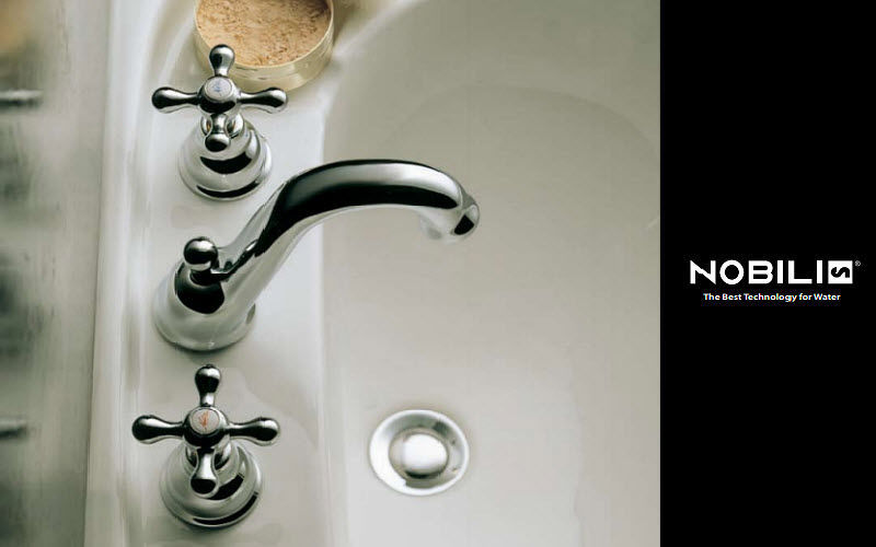 Nobilia Mélangeur lavabo 3 trous Robinetterie Bain Sanitaires  |