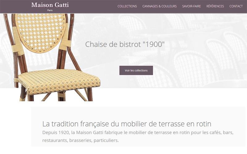 Maison Gatti Chaise de terrasse Chaises de jardin Jardin Mobilier  |