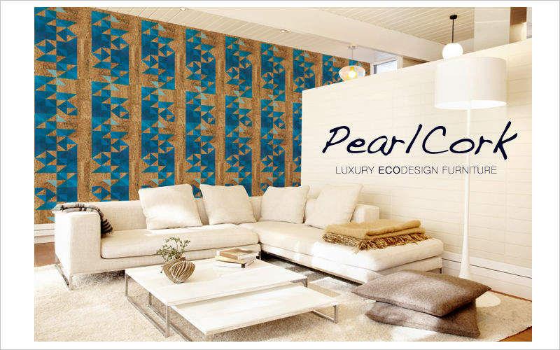 PEARL CORK Papier peint Papiers peints Murs & Plafonds Salon-Bar | Design Contemporain