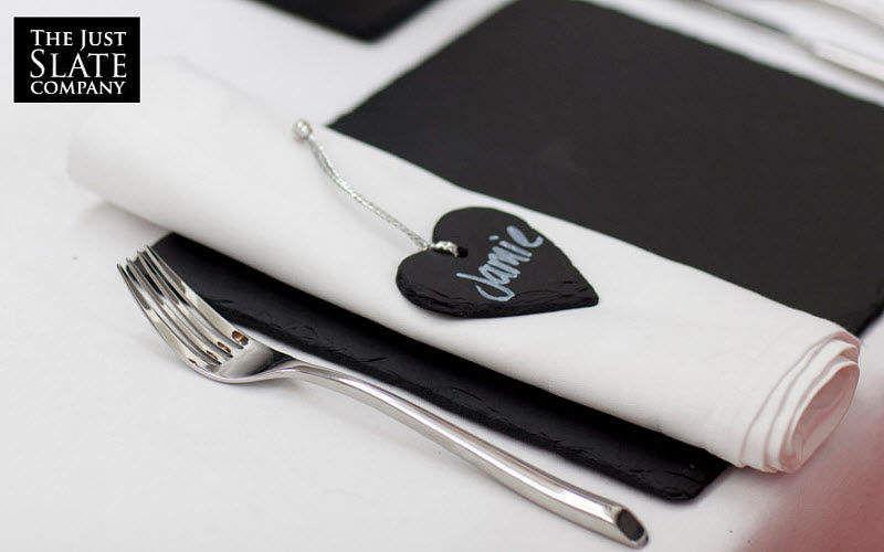 THE JUST SLATE COMPANY Marque-place Marques Accessoires de table  |