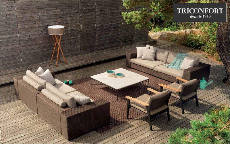 Triconfort Salon de jardin Salons complets Jardin Mobilier Terrasse | Design Contemporain