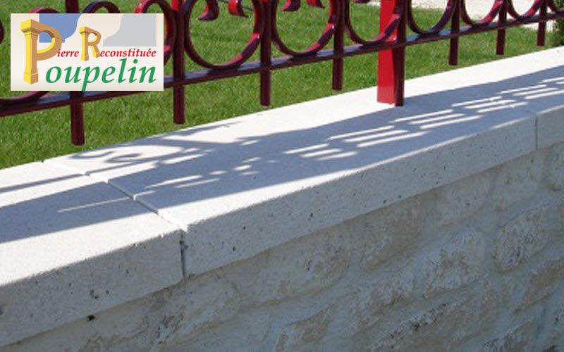 POUPELIN PIERRE RECONSTITUEE Couronnements de mur Clôtures Bordures Jardin Abris Portails...  |