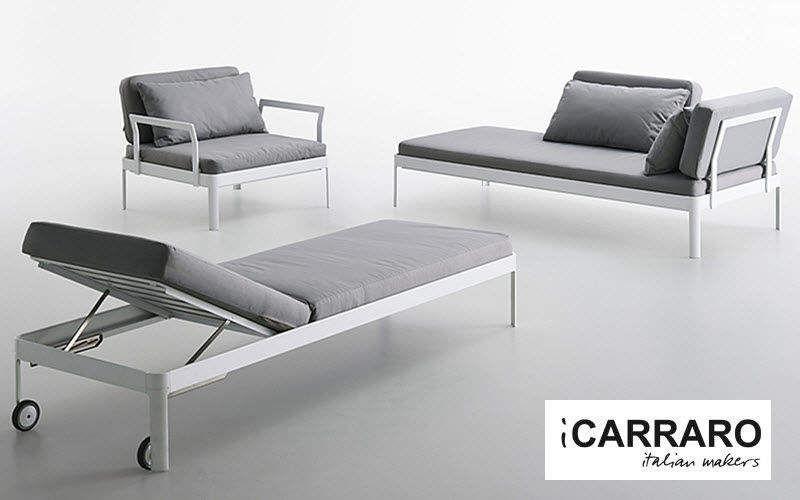 ICARRARO Bain de soleil Chaises longues Jardin Mobilier  |