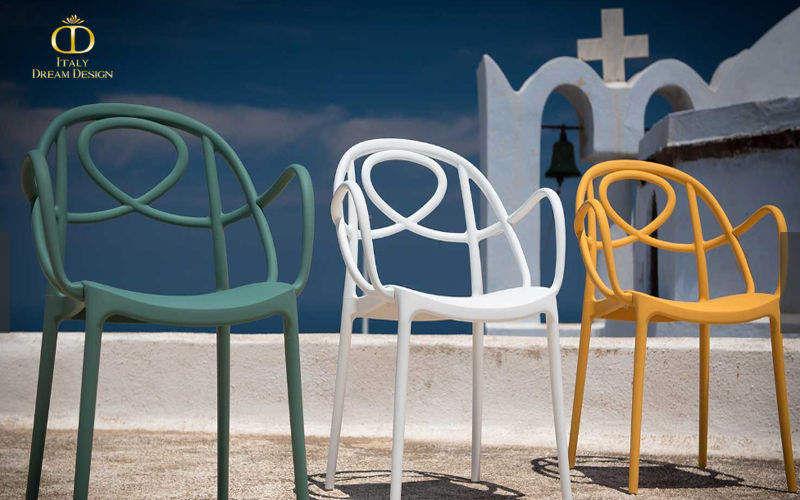 ITALY DREAM DESIGN Chaise de jardin empilable Chaises de jardin Jardin Mobilier   