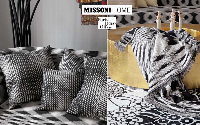 Missoni Home Coussin carré Coussins Oreillers Linge de Maison  |