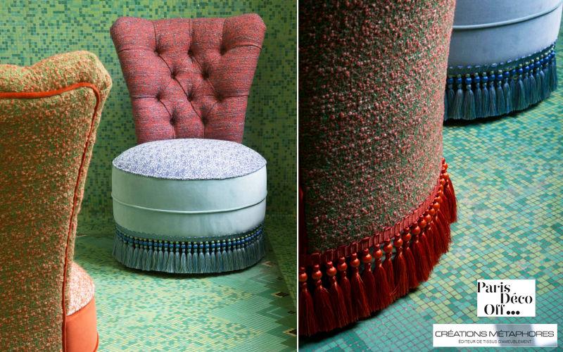 CREATIONS METAPHORES Tissu d'ameublement pour siège Tissus d'ameublement Tissus Rideaux Passementerie  |