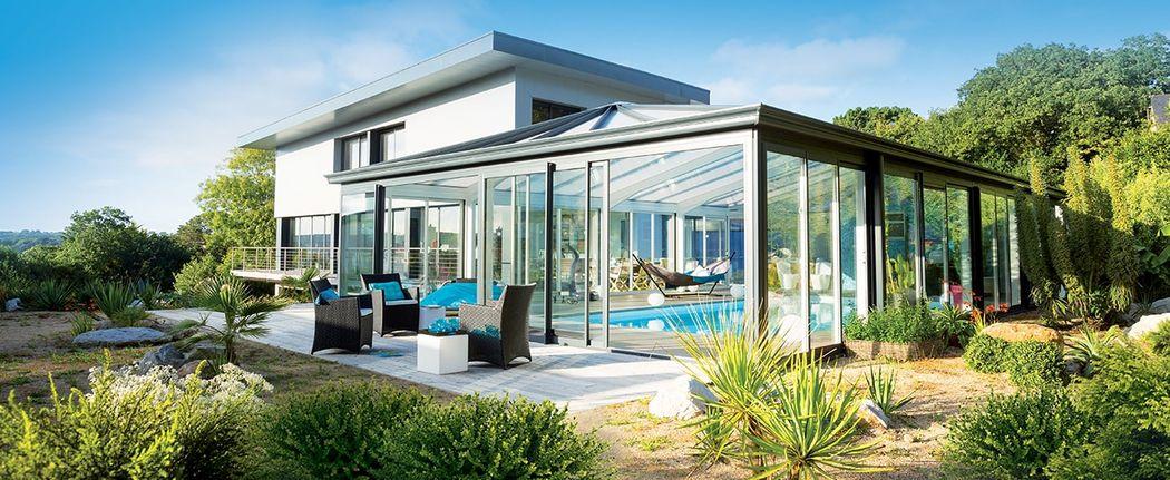 Veranda Rideau Veranda de piscine Verandas Jardin Abris Portails...   