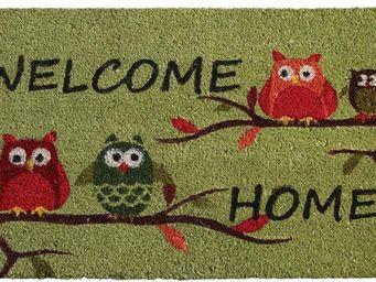 Aubry-Gaspard - paillasson hiboux welcome home - Paillasson
