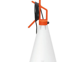 FLOS - may day - lampe à poser ou à suspendre orange h53c - Lampe À Poser