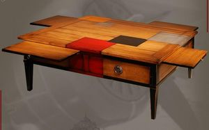 Table basse à tiroirs