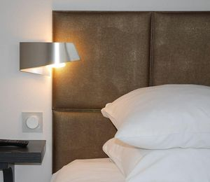 Cuir Au Carre Barre de tête de lit