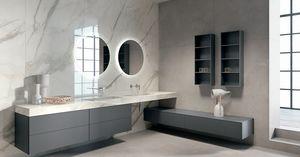 Bmt Colonne de rangement simple de salle de bains