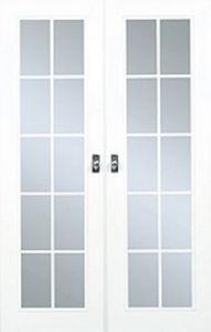 Porte de communication vitrée