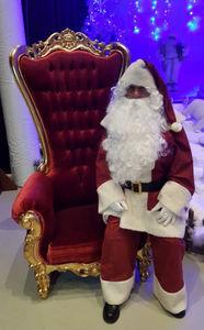 Décoration de Noël-DECO PRIVE--Fauteuil Trône Père Noël