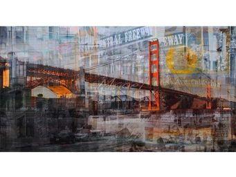 Magel'design - cisco bridge 150x80 cm , 3d effet relief - Tableau Contemporain
