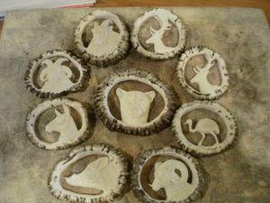 Astas Patagonicas - talas en coronas de volteo - Sculpture