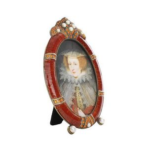 LONDON ORNAMENTS - oval orange frame - Cadre Photo