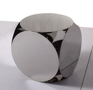 Sodezign - table design acier 50 cm x 50 cm - Bout De Canapé