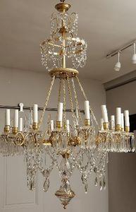 Galerie J�r�me Pla - lustre de style louis xvi � seize lumi�r - Lustre