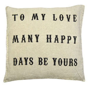 Sugarboo Designs - pillow collection - to my love - Coussin Carré