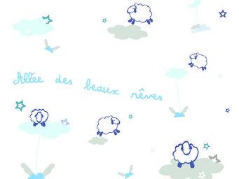 LILI POUCE - stickers all�e des beaux r�ves, bleu - Sticker D�cor Adh�sif Enfant