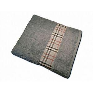 CLARA LINGE - serviette éponge grise claraberry 520 gr - Serviette De Toilette