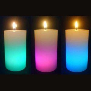 SUNCHINE - 3 bougies en cire eclairage led - Bougie D'extérieur