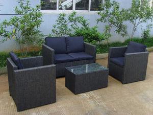 Dream Garden - salon de jardin 4 places aluminium et textil�ne gr - Salon De Jardin