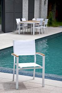 RESIDENCE - fauteuil de jardin empilable en aluminium et texti - Fauteuil De Jardin