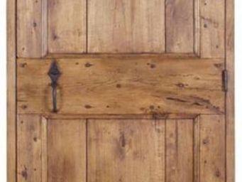 Portes Anciennes - modèle cochonière 2 panneaux tilleul - Porte De Communication Pleine