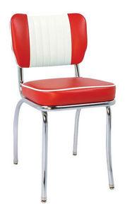 US Connection - chaise de diner malibu sh rouge/blanc - Chaise