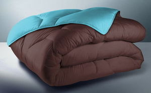 FASHION HOME - bicolore chocolat/turquoise - Couette