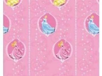 DISNEY - rideau rose princess medaillon - Rideaux Enfant