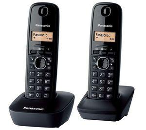 PANASONIC - tlphone dect kx-tg1612frh duo - noir - Téléphone
