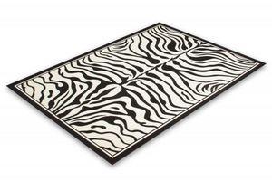 NAZAR - tapis contempo 60x110 black-white - Tapis Contemporain