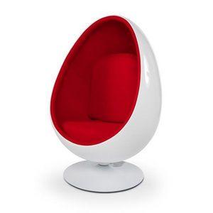 KOKOON DESIGN - fauteuil de salon design en forme d'oeuf orlando - Fauteuil