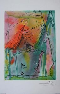 ARMAND ISRA�L - le cheval de la mort de salvador dali li - Lithographie