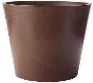 MARC VERDE - pot rond amsterdan cèdre en polyéthylène 40x33,3cm - Cache Pot