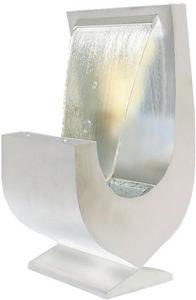 Cactose - fontaine niagara blanche aluminium avec jardinière - Fontaine Centrale D'extérieur