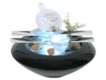 ZEN LIGHT - fontaine d'intérieur avec éclairage led tea time - Fontaine D'intérieur