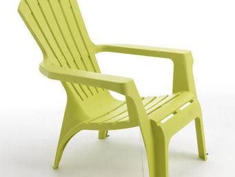 WILSA GARDEN - fauteuil adirondack vert anis en résine polypropyl - Fauteuil De Jardin